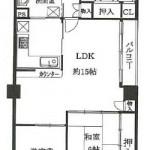 LDK15畳 カウンターキッチン(間取)